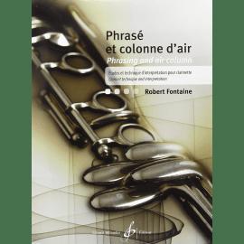 PHRASE ET COLONNE D'AIR Robert FONTAINE Clarinette