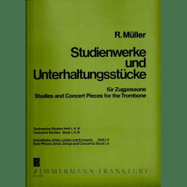 ETUDES ET PIECES DE CONCERT - Livre 1 - R. MÜLLER - TROMBONE