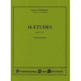 16 Etudes de Cours Superieur Emile COCHEREAU pour Cor