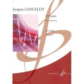 22 ETUDES - J. LANCELOT - Clarinette