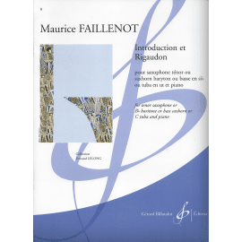 INTRODUCTION ET RIGAUDON Maurice FAILLENOT Saxhorn Basse ou Saxophone Ténor