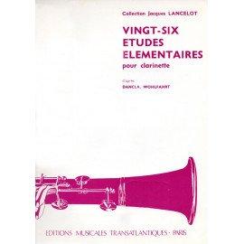 26 ETUDES ELEMENTAIRES - J. LANCELOT - Clarinette