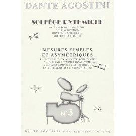 DANTE AGOSTINI Solfège Rythmique Volume 3