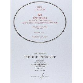 50 Etudes Faciles et Progressives Volume 1 de Guy LACOUR pour Hautbois