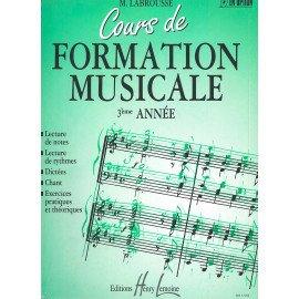COURS DE FORMATION MUSICALE 3ème Année