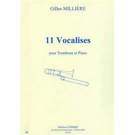 11 VOCALISES - G. MILLIERE - Trombone