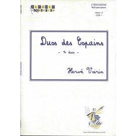 DUOS DES COPAINS de Hérvé VOIRIN pour 2 Percussionnistes