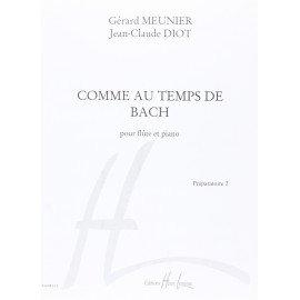 COMME AU TEMPS DE BACH - Flûte Traversière