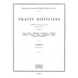 Traits Difficiles 1er Recueil Fascicules 1 Et 2 pour Trompette