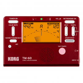 KORG TM60-RD ACCORDEUR/METRONOME Rouge