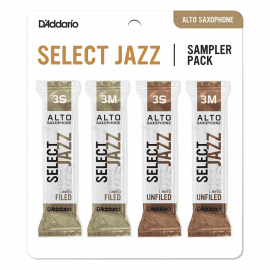 SAMPLER PACK D'ADDARIO JAZZ SELECT SAXOPHONE TENOR - 3S à 3M