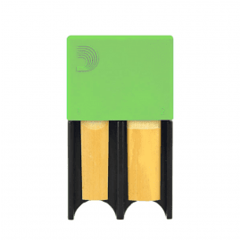 PORTE ANCHES D'ADDARIO CLAR BASSE/SAX TEN/BAR - 4 ANCHES - VERT