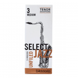 ANCHES D'ADDARIO JAZZ SELECT SAXOPHONE TENOR UNFILED 3M