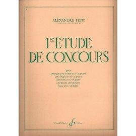 1° ETUDE DE CONCOURS - A. PETIT - Instrument en Sib ou Mib et piano