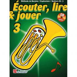 ECOUTER LIRE ET JOUER BARYTON Sib CLE DE FA VOL 3 + CD inclus