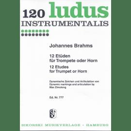 12 ETUDES de Johannes BRAHMS pour Trompette ou Cor