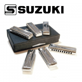 Set de 6 Harmonicas Diatonique SUZUKI Promaster MR350