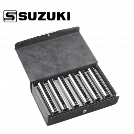 Set de 6 Harmonicas Diatonique SUZUKI Bluesmaster MR250
