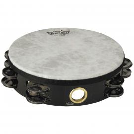 Tambourin REMO TA-5208-70 Fiberskin Quadura Black