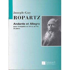ANDANTE ET ALLEGRO - ROPARTZ Guy Joseph - Trompette en Ut