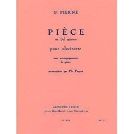 PIECE EN SOL MINEUR - Gabriel Pierné - Clarinette
