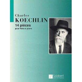 14 PIECES POUR FLUTE ET PIANO - Charles KOECHLIN - Fllûte traversière