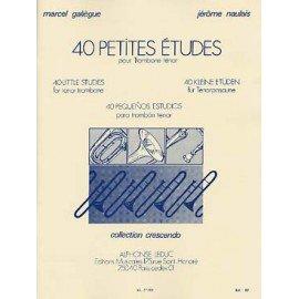 40 Petites études - GALIEGUES/NAULAIS - Trombone