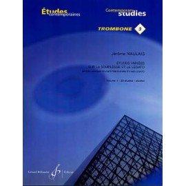 ETUDES VARIEES SUR LA SOUPLESSE ET LE LEGATO N°3 vol 1 - NAULAIS - Trombone