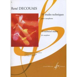 35 ETUDES TECHNIQUES - R. DECOUAIS - Saxophone Alto