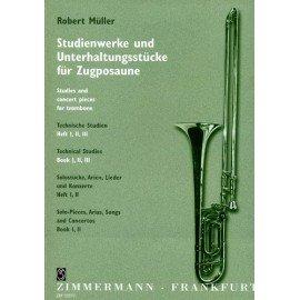 Technische Studien (études techniques et pièces de concert) - Vol. 1 - MÜLLER - Trombone