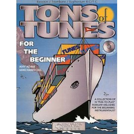 TONS OF TUNES FOR THE BEGGINNERS + CD - EUPHONIUM